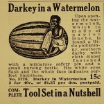 darkey in a watermelon