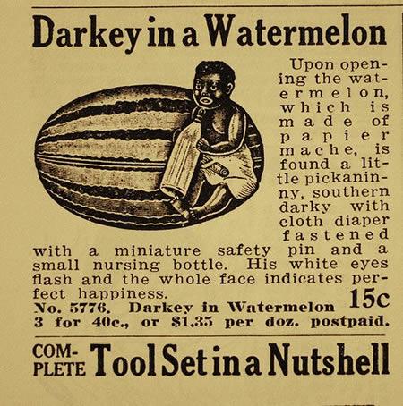 darkey in a watermelon