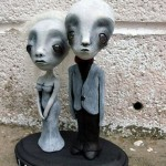 Alien figures wedding cake Topper