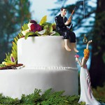 Fishing the bride Wedding Cake Topper