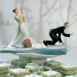 Fishing the groom Wedding Cake Topper
