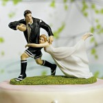 Footbal Wedding Cake Topper