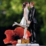 Kissing Wedding Cake Topper