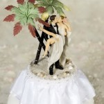 Tropical Kiss Wedding Cake Topper