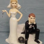 chained husband Wedding Cake Topper