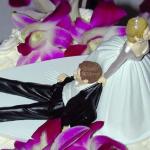 dragging husband wedding cake Topper
