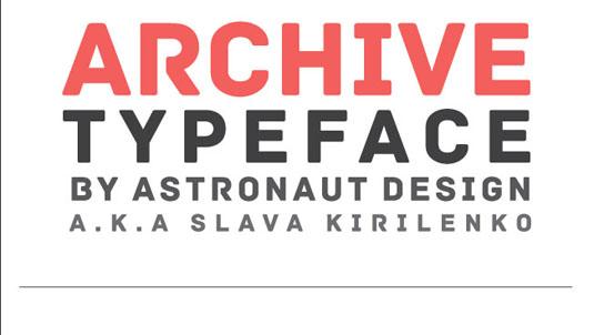 archive2 font