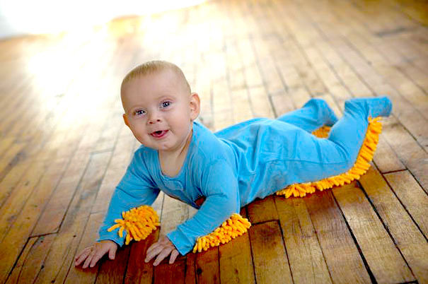 Baby mop outfit creative ads and more for Diy inventions household items