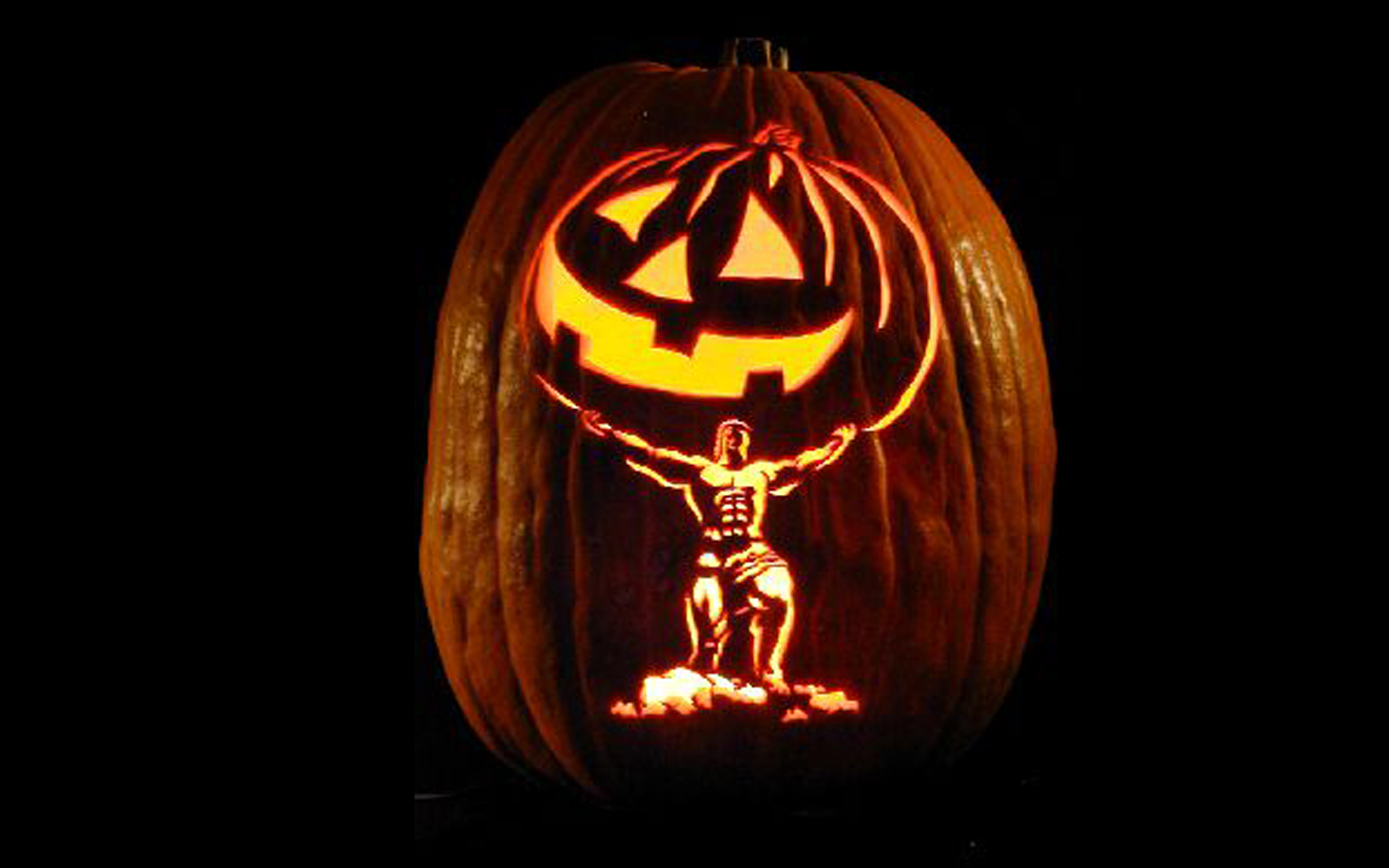skeleton Halloween pumpkin carving | Creative Ads and more…
