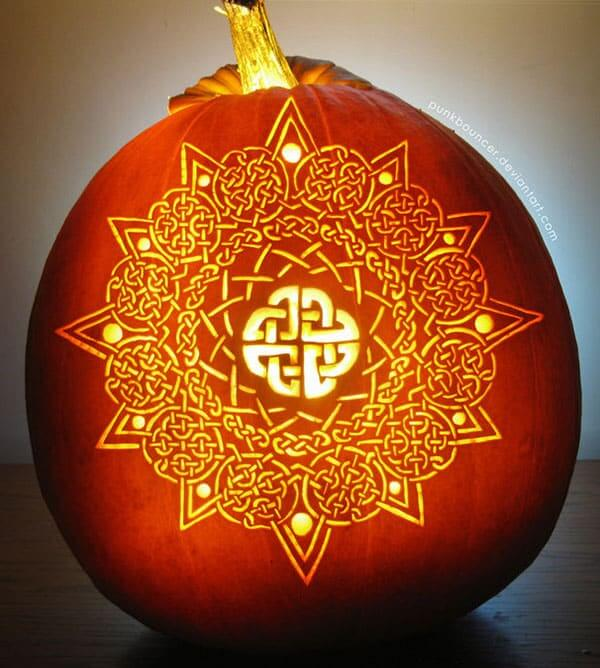 Celtic Halloween Pumpkin Design Creative Ads And More