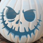Funny White Halloween Pumpkin Carving