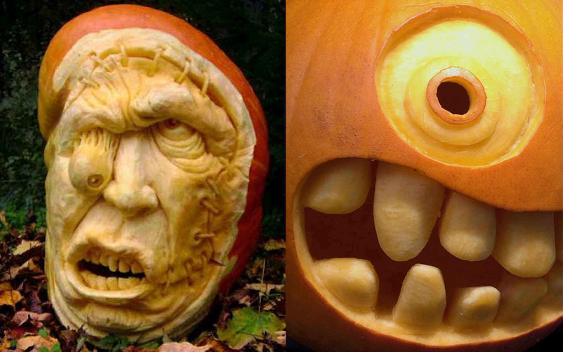 funny eyes halloween pumpkin carving - Cool Halloween Pumpkin Designs