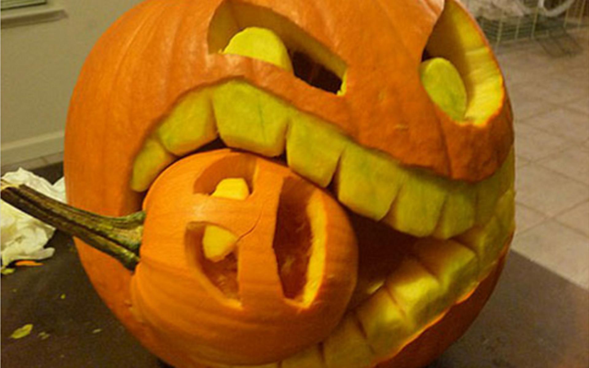 Halloween eating small pumpkin carving creative ads and more halloween eating small pumpkin carving maxwellsz