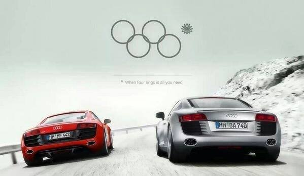 epic audi commercial 4 circles