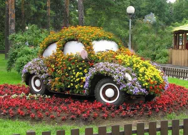 Creative Flower Garden Ideas 600 x 432