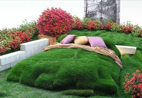 Garden Creative Ideas grass bed | Creative Ads and more…