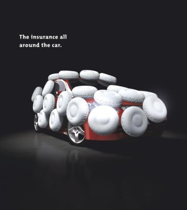 car insurance ad airbags creative ads and more