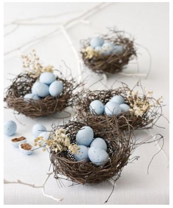 easter centerpiece egg nests | Creative Ads and more...