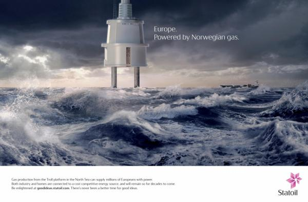 Europe Powered By Norwegian Gas Ad Statoil Creative Ads