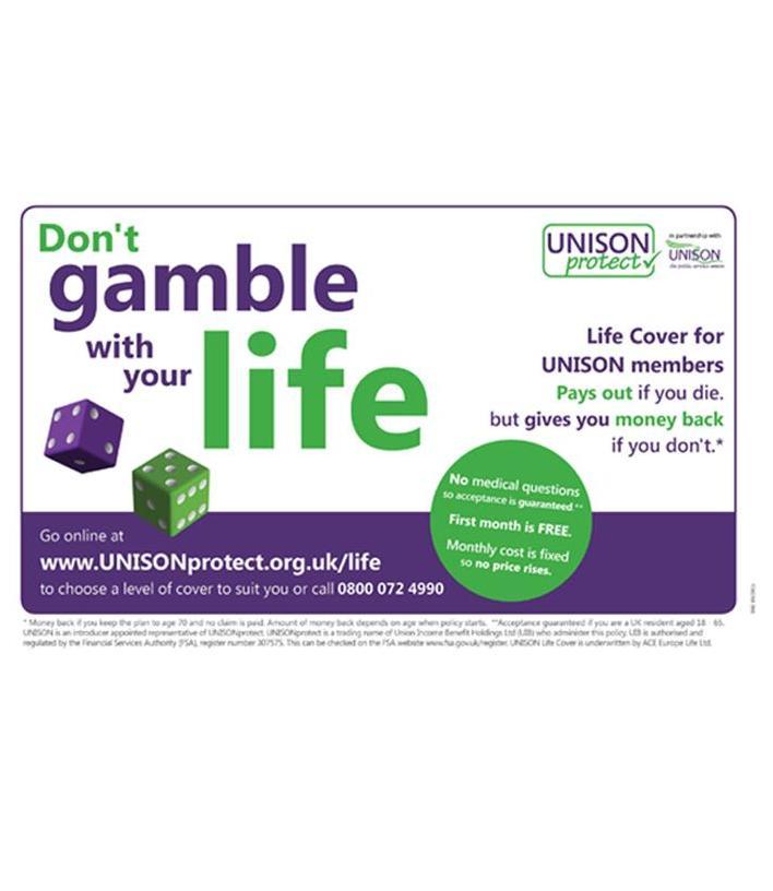 Catchy Insurance Phrases Life: Dont-gamble-insurance-ad-slogan