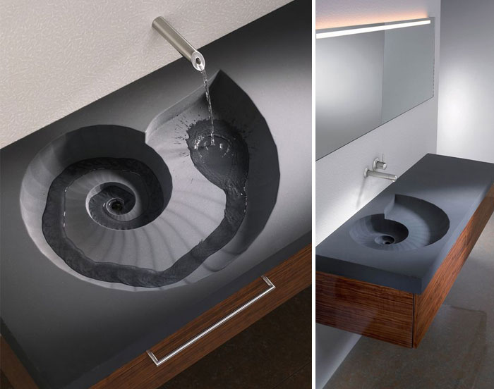 bathroom design ideas  Ammonite sink