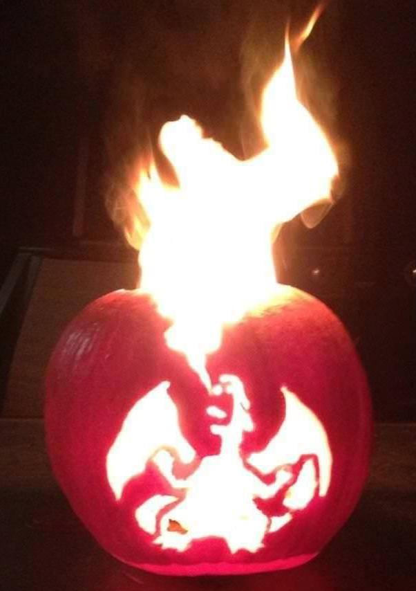 dragon carved pumpkin | Creative Ads and more…