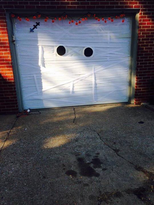 Halloween Garage Door Decoration Idea Creative Ads And More