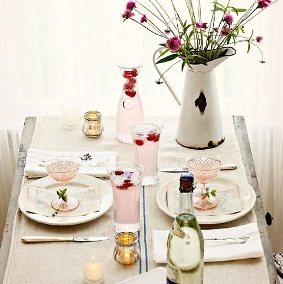 Vintage Valentines Day Table Setting Idea Creative Ads