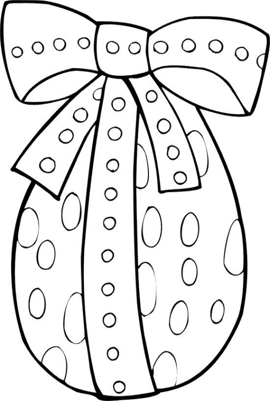 easter bunny egg coloring pages - photo#33