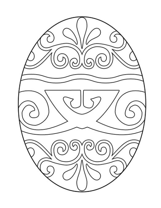 Easter Egg Coloring Page to Print  Creative Ads and more