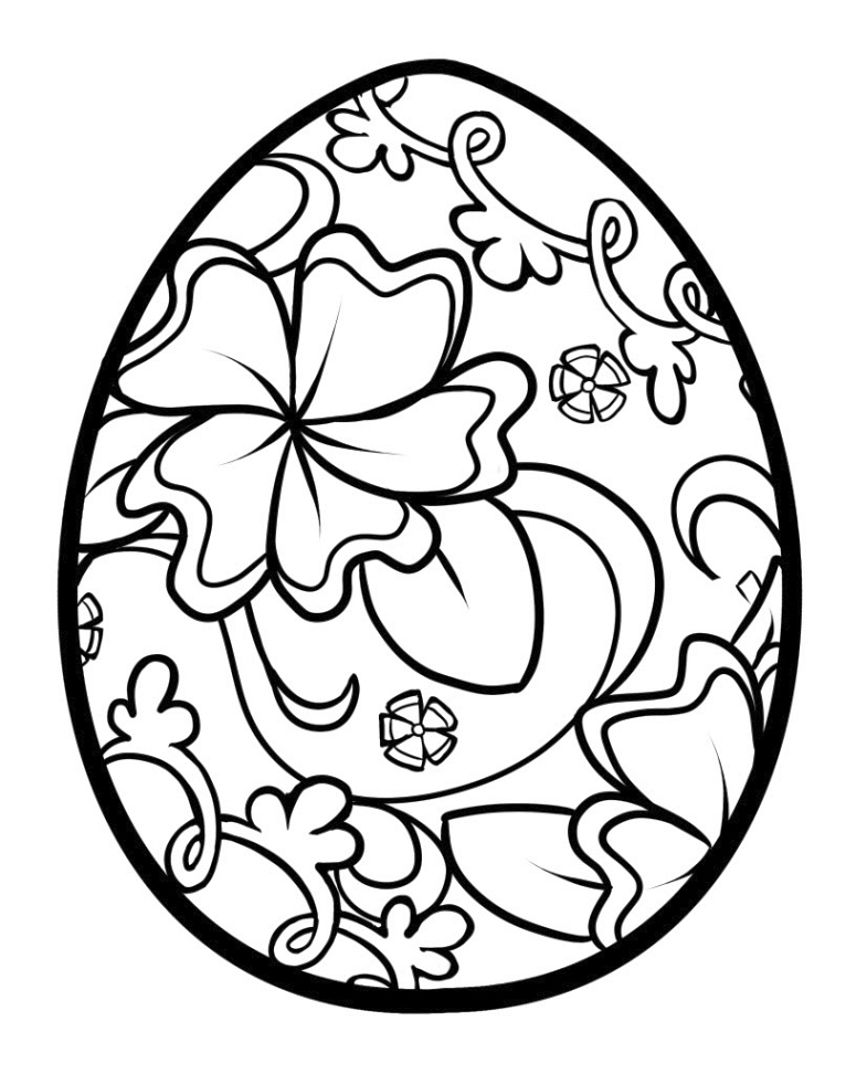 Easter Egg Picture To Color And Print Creative Ads And More