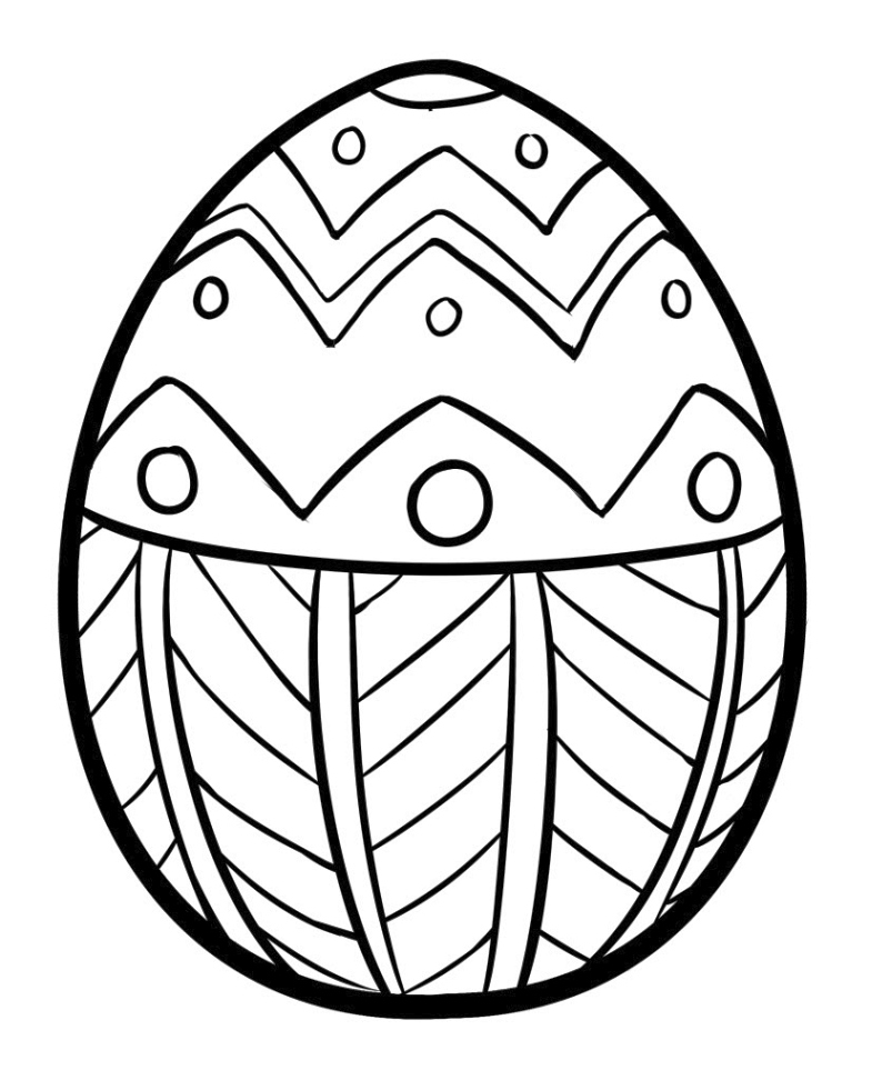 Simple Easter Egg Coloring Page