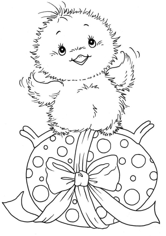easter chicks coloring pages - photo#10