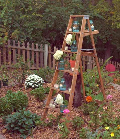 Wooden Ladder Decorating Ideas