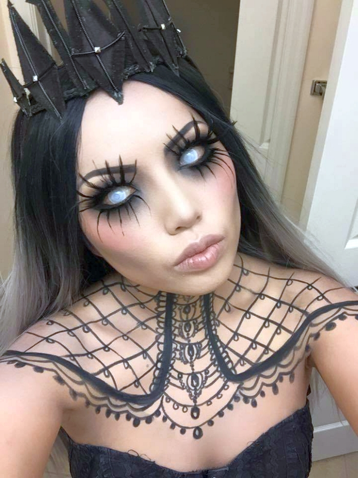 A halloween makeup idea creative ads and more for Halloween makeup tattoos