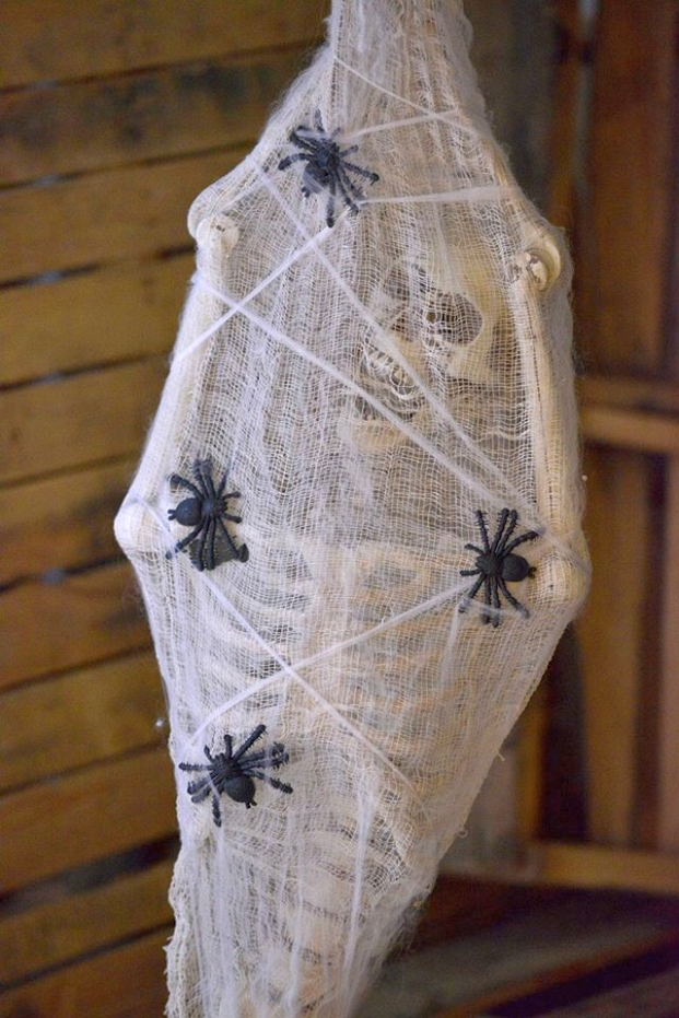 Hanging Skeleton Wrapped In Spiders Web Creative Ads And More