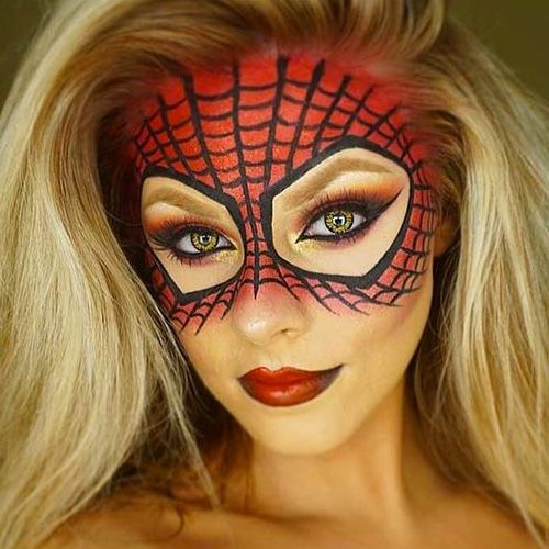 Spider Halloween Makeup Idea