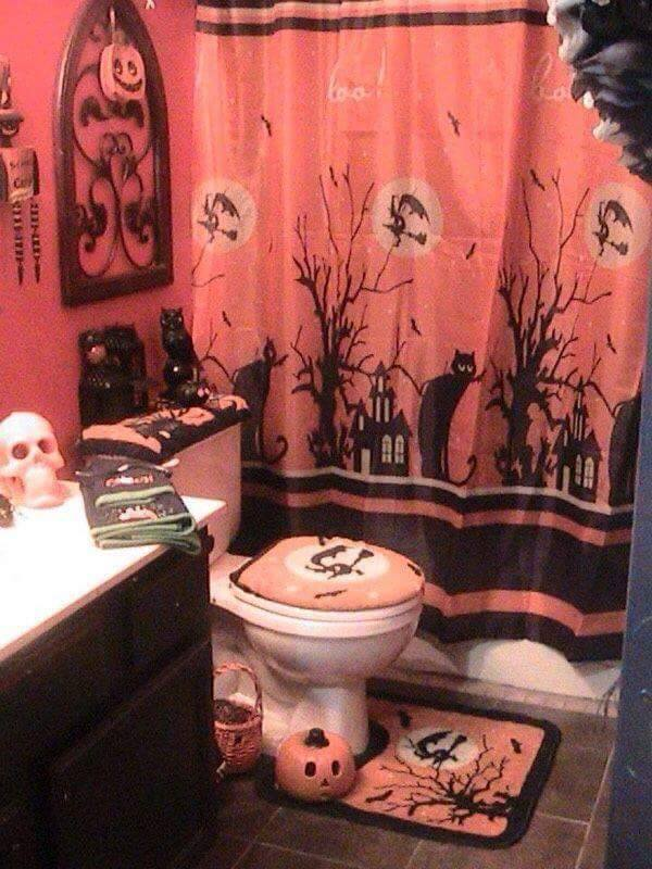 Bathroom Set Up For Halloween Creative Ads And More