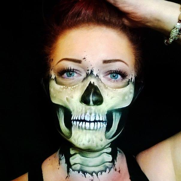 Skeleton Face Halloween Makeup Creative Ads And More