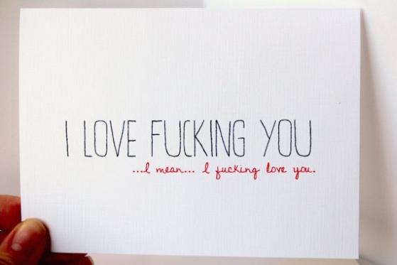 Adult love card