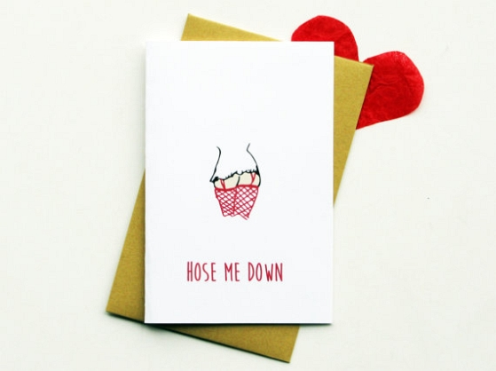 Hose Me Down Dirty Valentines Day Card Creative Ads