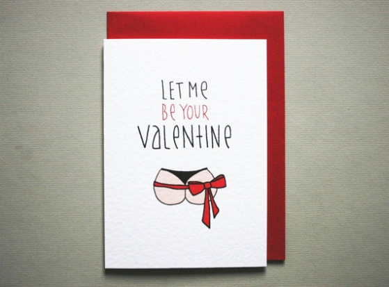 Let Me Be Your Valentine Naughty Valentineu0027s Day Card