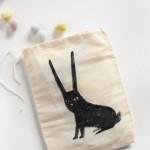 Black Bunny Easter treat bag