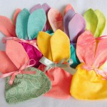 Colorful Easter bunny treat bag