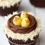 Easter Bird Nest Cupcakes