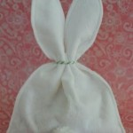Easter bunny tail treat bag