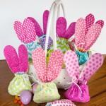 Easter bunny treat bag - pink ears