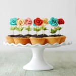 Easter cupcakes-flowers in pots