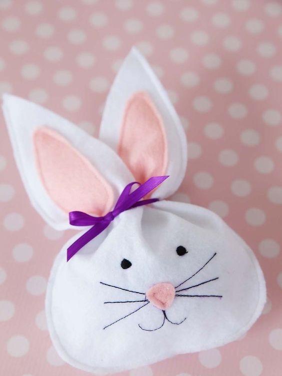 Felt Bunny Treat Bag For Easter