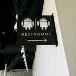 Googleplex funny bathroom sign
